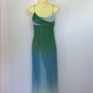 Bcbg Maxazria Dress Silk Ombré Maxi Prom Dress 6